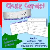 Quiz Cards for Quiz-Quiz-Trade Activities (multiplication