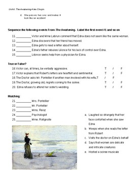 Quiz, Ch. 20-24, The Awakening