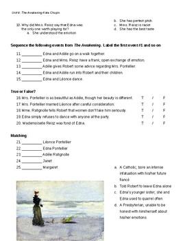 Quiz, Ch. 6-9 The Awakening