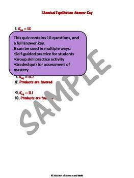 Quiz Chemical Equilibrium