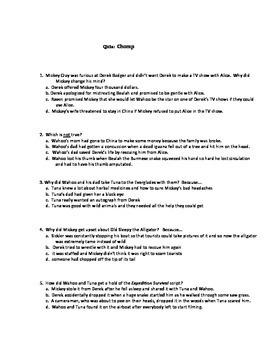Quiz for Chomp  by Carl Hiaasen