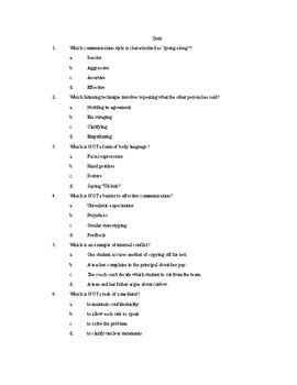 Quiz: Communication & Healthy Relationships