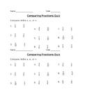 Quiz-Comparing Fractions