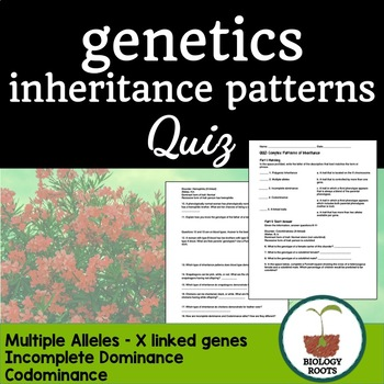 Patterns Of Inheritance Teaching Resources Teachers Pay Teachers New 113 Other Patterns Of Inheritance