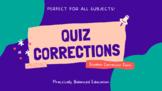 Quiz Corrections