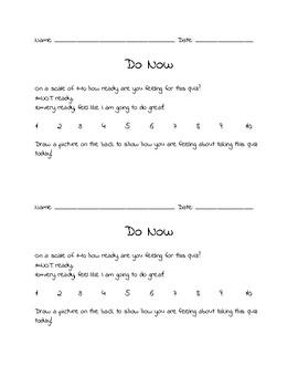Quiz Day Do Now