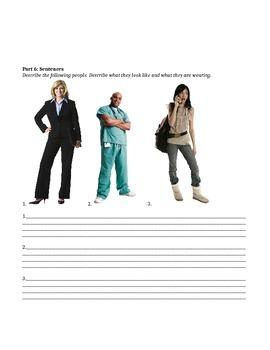 Quiz - Describing People and Clothing - ESL