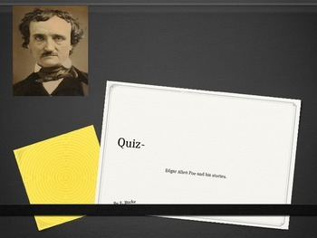 Quiz-Edgar Allen Poe-