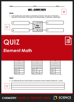 Quiz element math calculating number of protons neutrons electrons urtaz Images