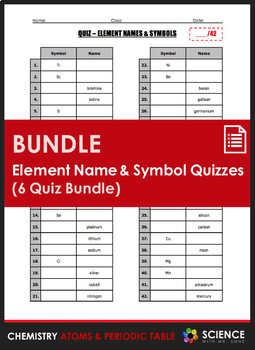 Quiz element names and symbols 6 quiz set by science with mr enns quiz element names and symbols 6 quiz set urtaz Gallery