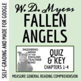 Fallen Angels by Walter Dean Myers - Quiz (pg. 1-96)