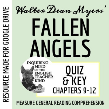 Fallen Angels by Walter Dean Myers - Quiz (pg. 205-end)