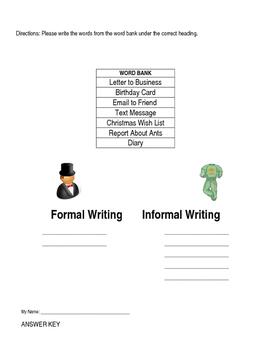 Quiz: Formal vs Informal Writing
