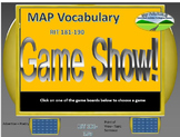 MAP TEST READING VOCABULARY GAME - Game Show (RIT BANDS 181-190)