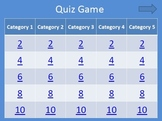 Quiz Game Power Point Template -  For Commercial and Personal Use