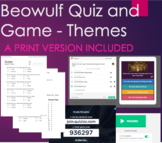 Quiz & Game for Beowulf on Themes and Printable Quiz #1-15