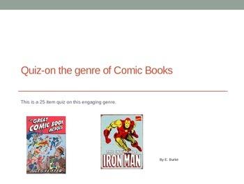 Quiz--Genre Of Comic Books
