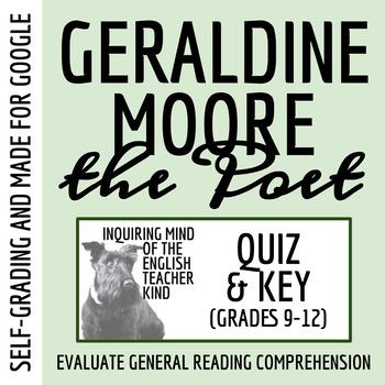 """Quiz: """"Geraldine Moore the Poet"""" by Toni Cade Bambara"""
