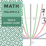 HSA.APR.C.5 - Quiz and Answer Guide