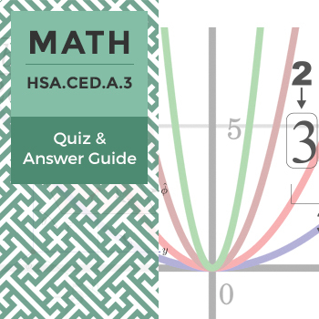 HSA.CED.A.3 - Quiz and Answer Guide