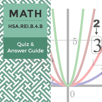 HSA.REI.B.4.B - Quiz and Answer Guide