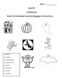 Quiz - Halloween (French)