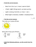 Quiz Heat Light Sound