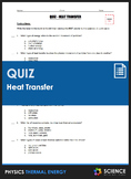 Quiz - Heat Transfer by Conduction, Convection, and Therma