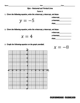 Quiz - Horizontal and Vertical Lines - PP