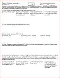 Quiz: IB Math SL Summer Worksheet Assessment 2011 - 2 versions - one page each