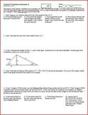 Quiz: IB Math SL Summer Worksheet Assessment 2012 - 2 versions - one page each