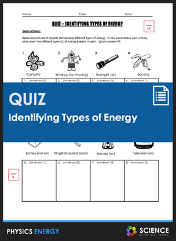 Quiz - Identifying Types of Energy