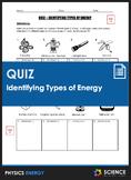 Quiz - Identifying Types of Energy