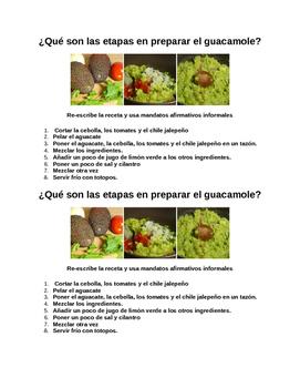 Quiz - Informal Commands (Guacamole Recipe)