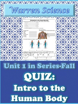 Quiz: Introduction to the Human Body-Unit 1 in Series (Fall)