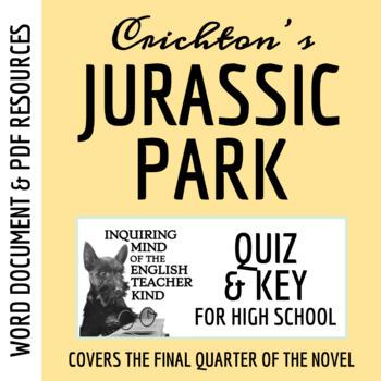 Jurassic Park Quiz (pg. 299-400) - Michael Crichton
