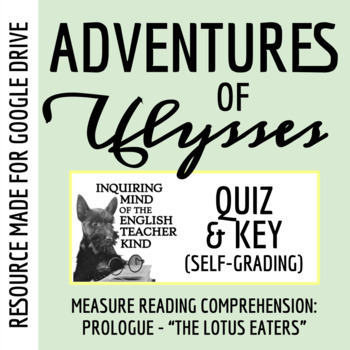 Adventures of Ulysses Quiz (Prologue - Lotus Eaters)