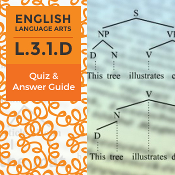 L.3.1.D - Quiz and Answer Guide