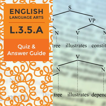 L.3.5.A - Quiz and Answer Guide