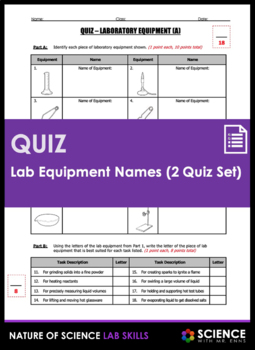 Quiz - Lab Equipment Names and Functions