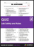 Quiz - Lab Safety and Lab Rules