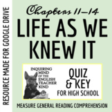 Life As We Knew It Quiz (Chap. 11-14)