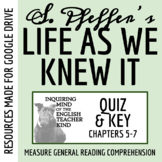 Life As We Knew It Quiz (Chap. 5-7)