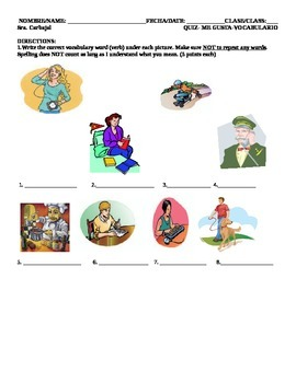 Quiz Likes Dislikes Common Verbs Spanish 1 works for all b