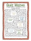 Quiz Mazes- Engage New York/CKLA 1st Grade Quarter 1 (Modu