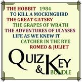 Literature Quiz Bundle: To Kill a Mockingbird, Great Gatsb