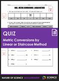 Quiz - Metric Conversions by Linear or Staircase Method