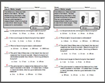 Quiz:  Metric Length