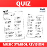 Quiz - Multiple Choice - Music Symbol revision