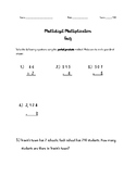 Quiz-Multiply with Partial Products